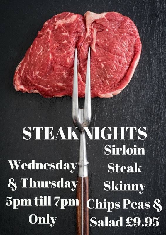 Steak night at the Ringland Swan